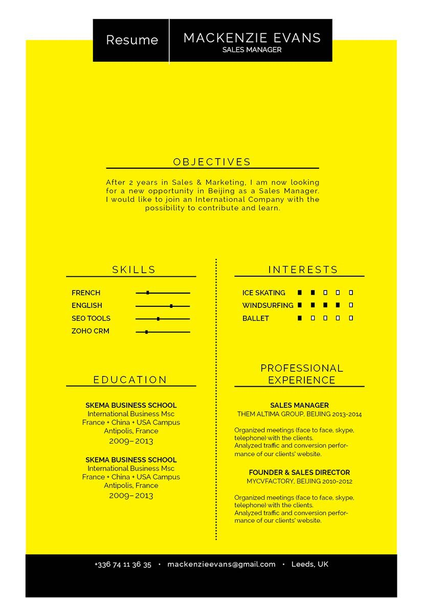No need to worry, this good resume template is all you need to grab that dream job!