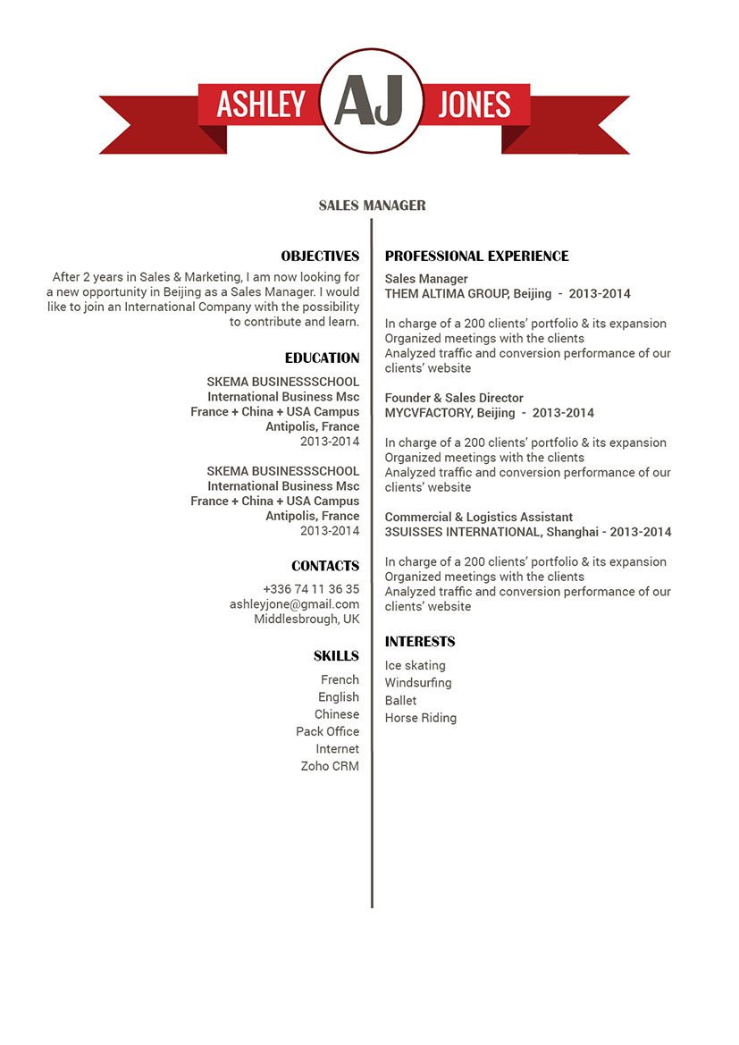 Find your way to that dream job thanks to this professional resume template!