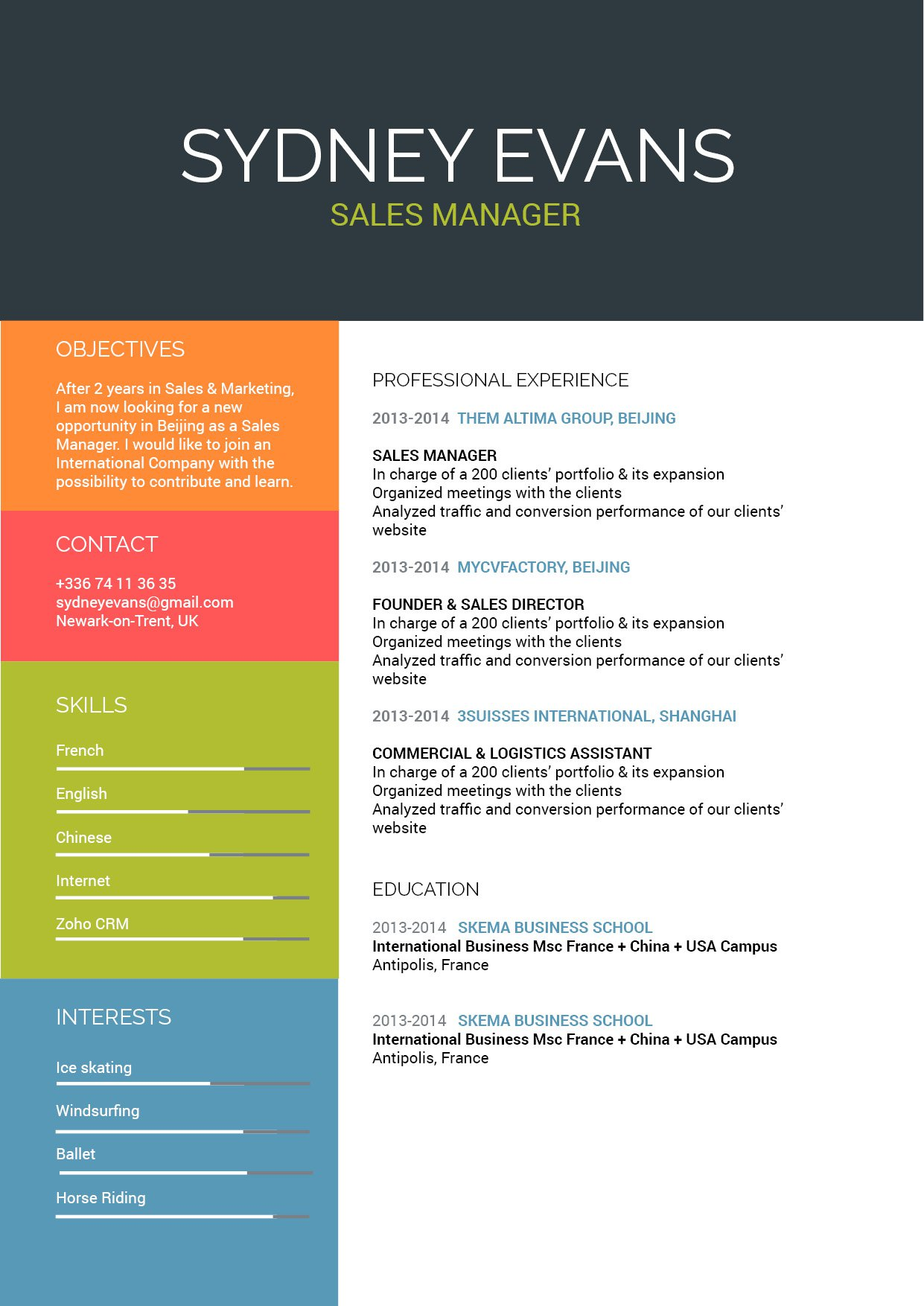 A great resume template to land you that dream job thanks to its designs and formatting.