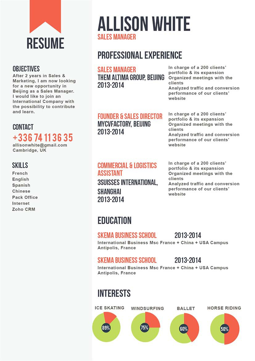 This professional resume template features a great format for all job types!