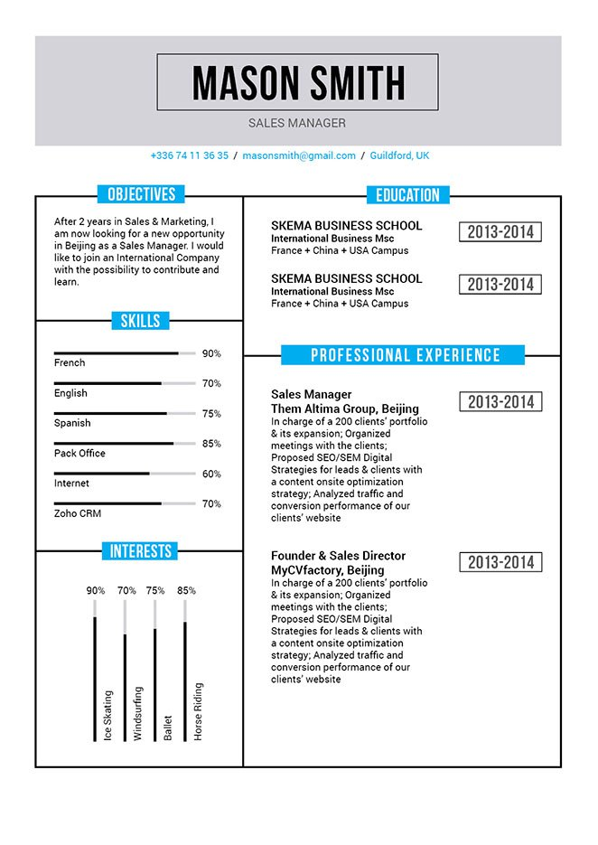 A functional resume template wit a great format bult to impres any recruiter who reads it!