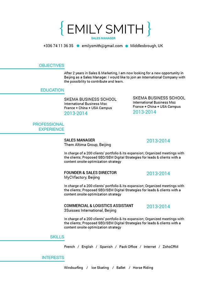 This good resume template has a clean and concise format made precisely for you!