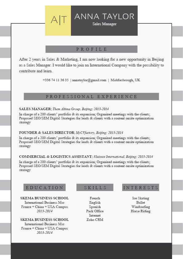 Grab this template and writing a good resume is made easy!