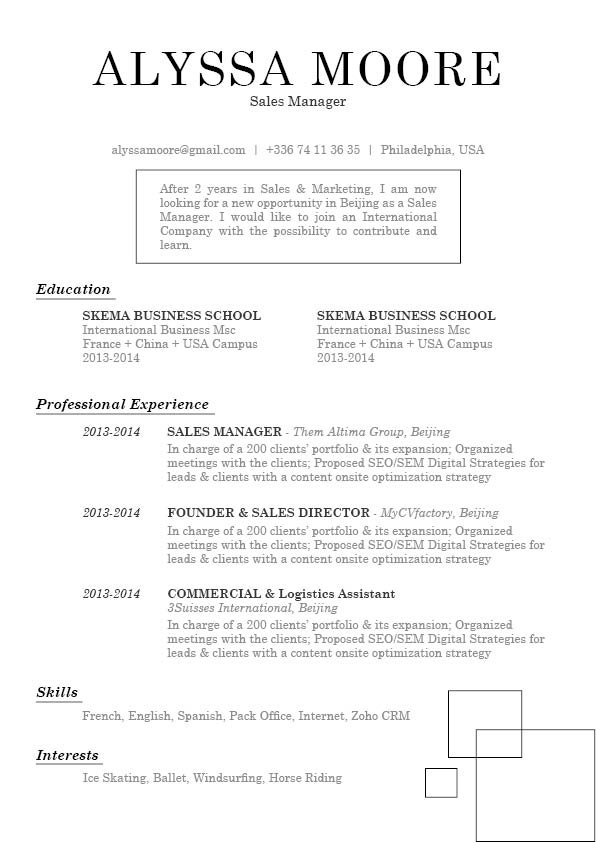 Get yoursef hired with this resume template -- format and layout are perfect!