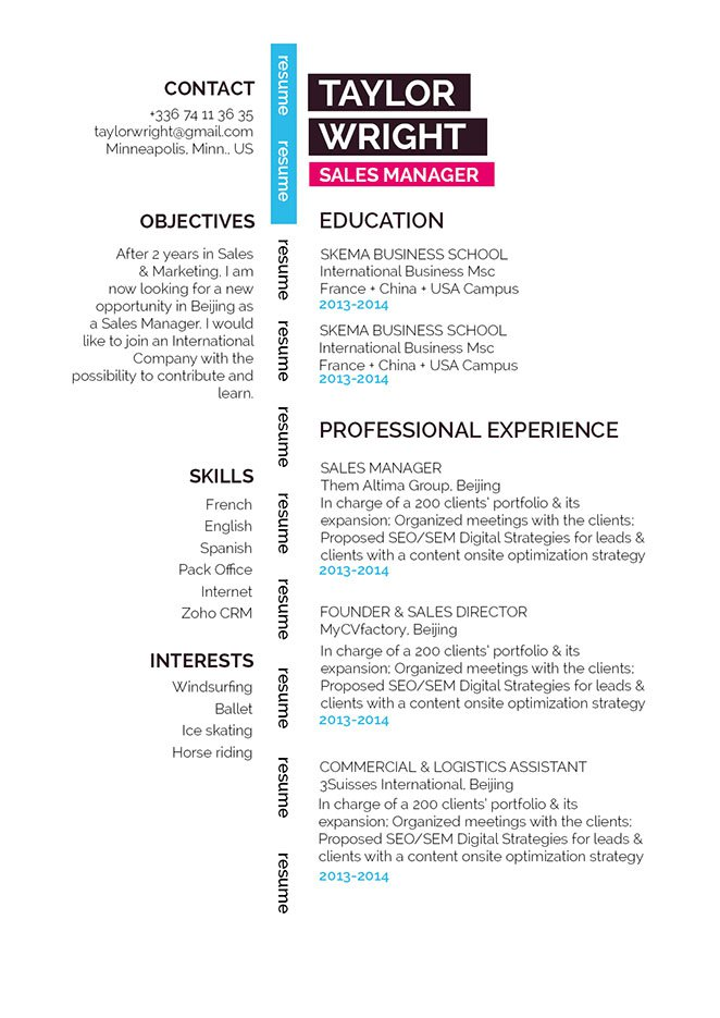 A professional resume template that is  a perfect fit for any type of job