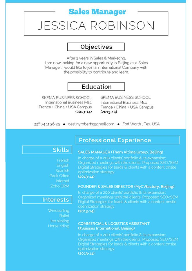 The lay out in this resume template is superb!