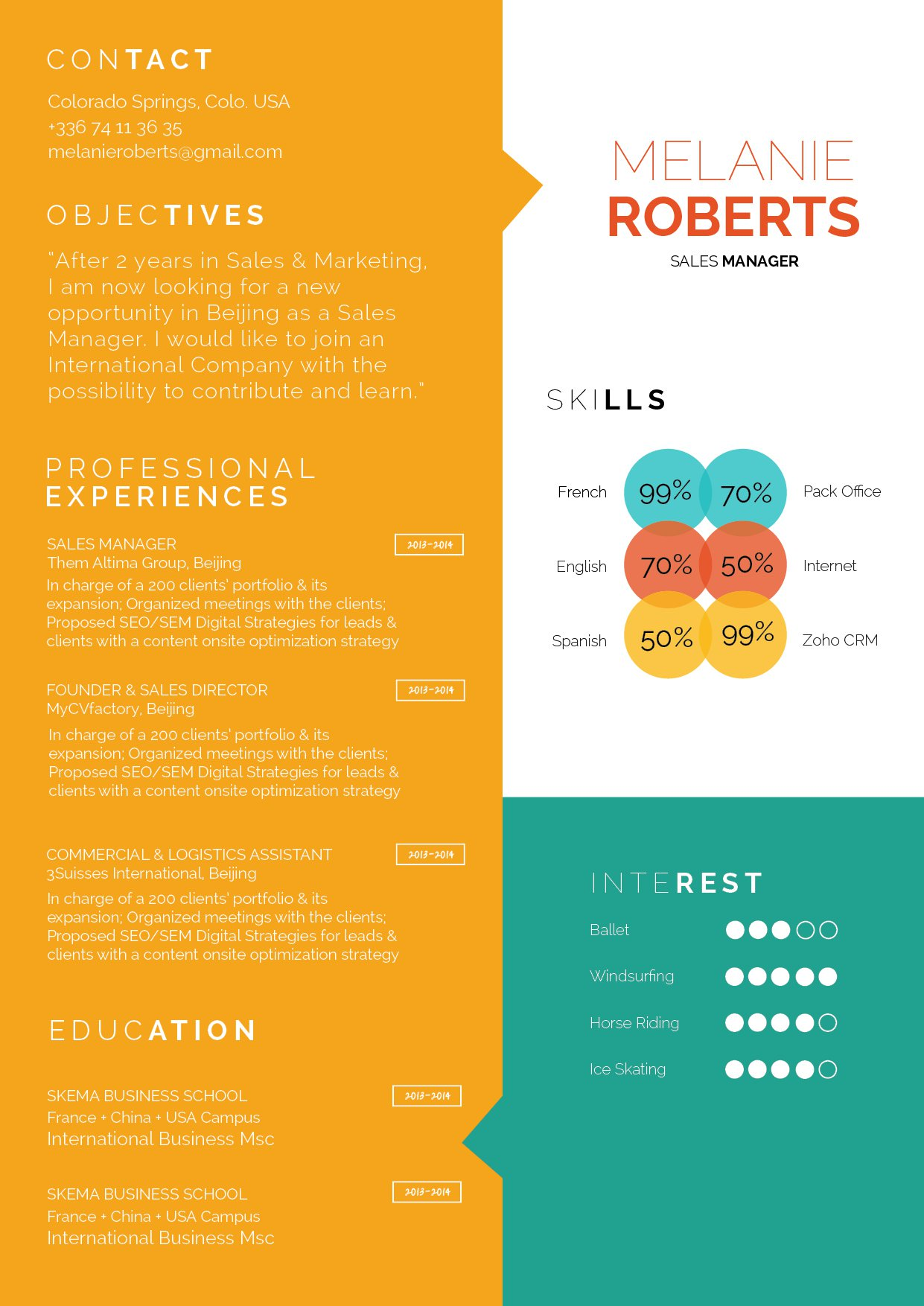 The layout featured in this modern CV will help you land that dream job!