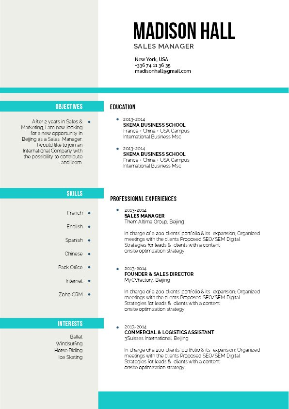 This assistant CV has an expertly made layout that will surely impress any reader!