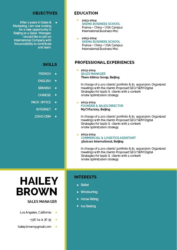 Build the perfect resume format with this modern resuem template!