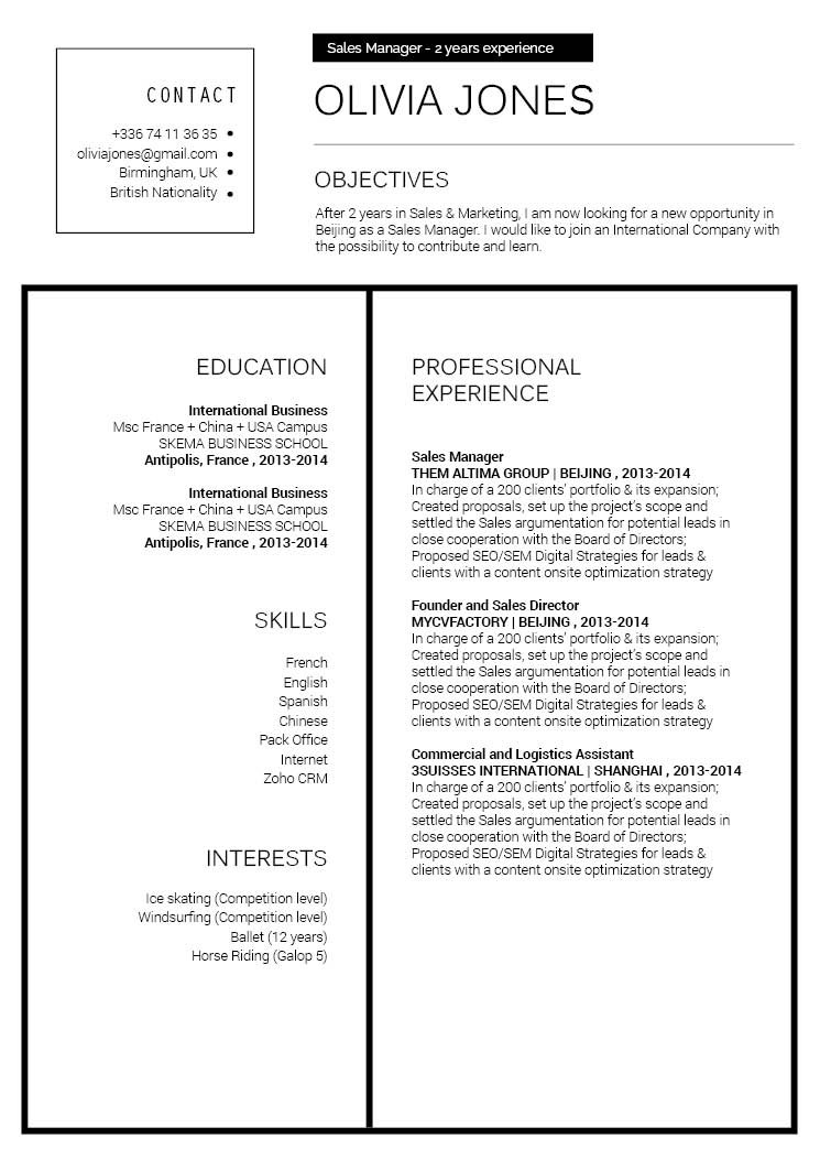 Very well-written modern resume template for professionals