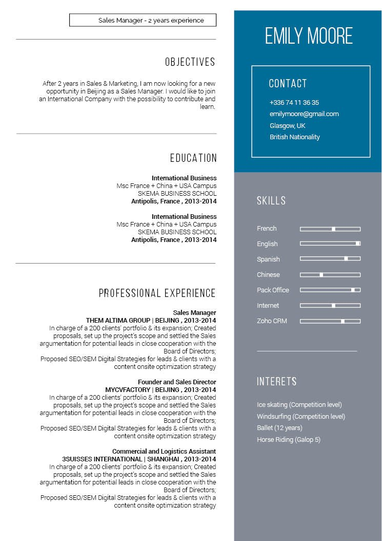 Your recruiter will be impressed with this good modern resume template