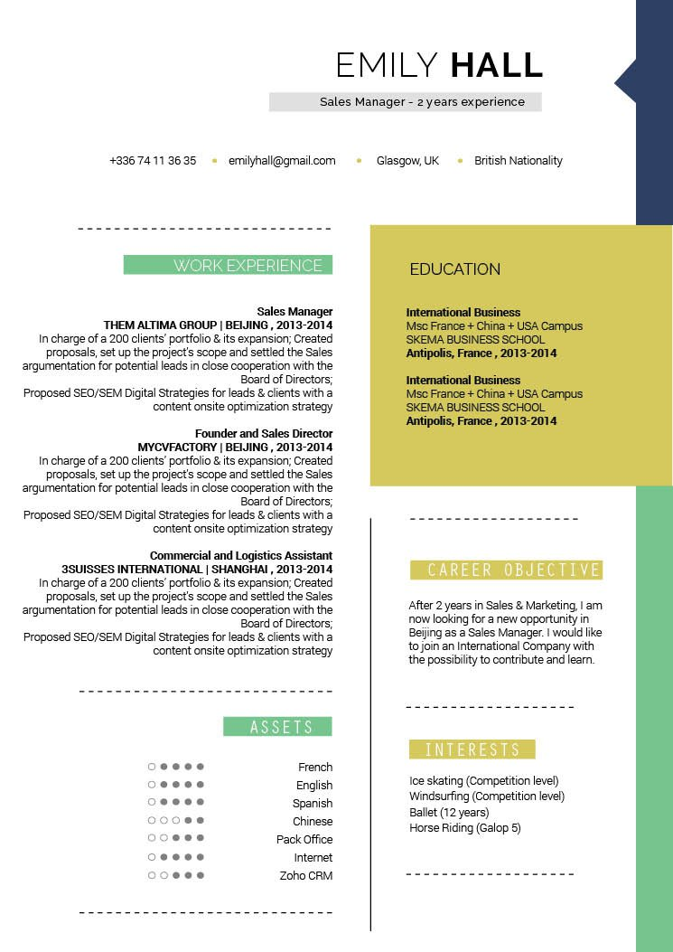 Get hired fast with this modern CV template!