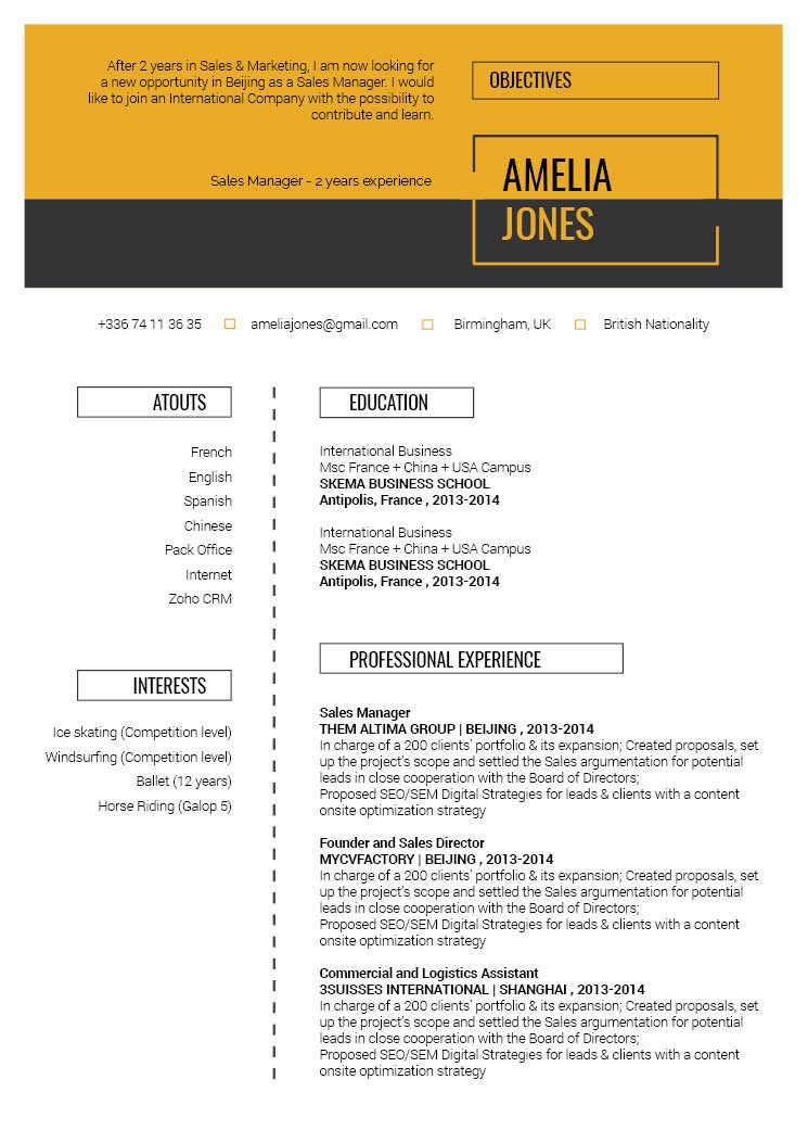 No Need To Struggle In Creating A Great Resume This Professional Template Is All