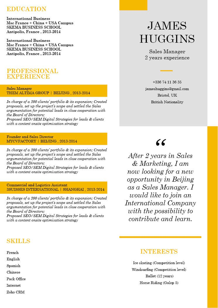 This resume template is expertly formatted to show off each section perfectly