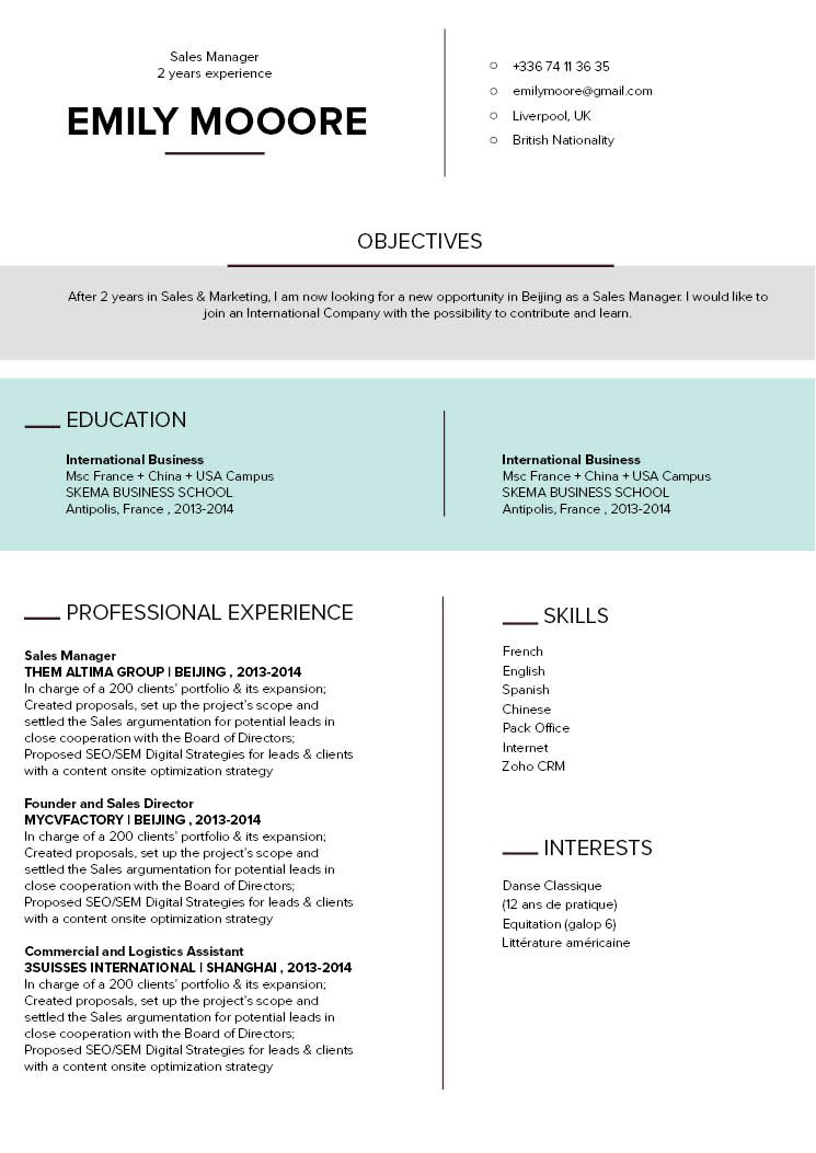 Grab the attention of your potential employer with this modern CV template and its superb format!
