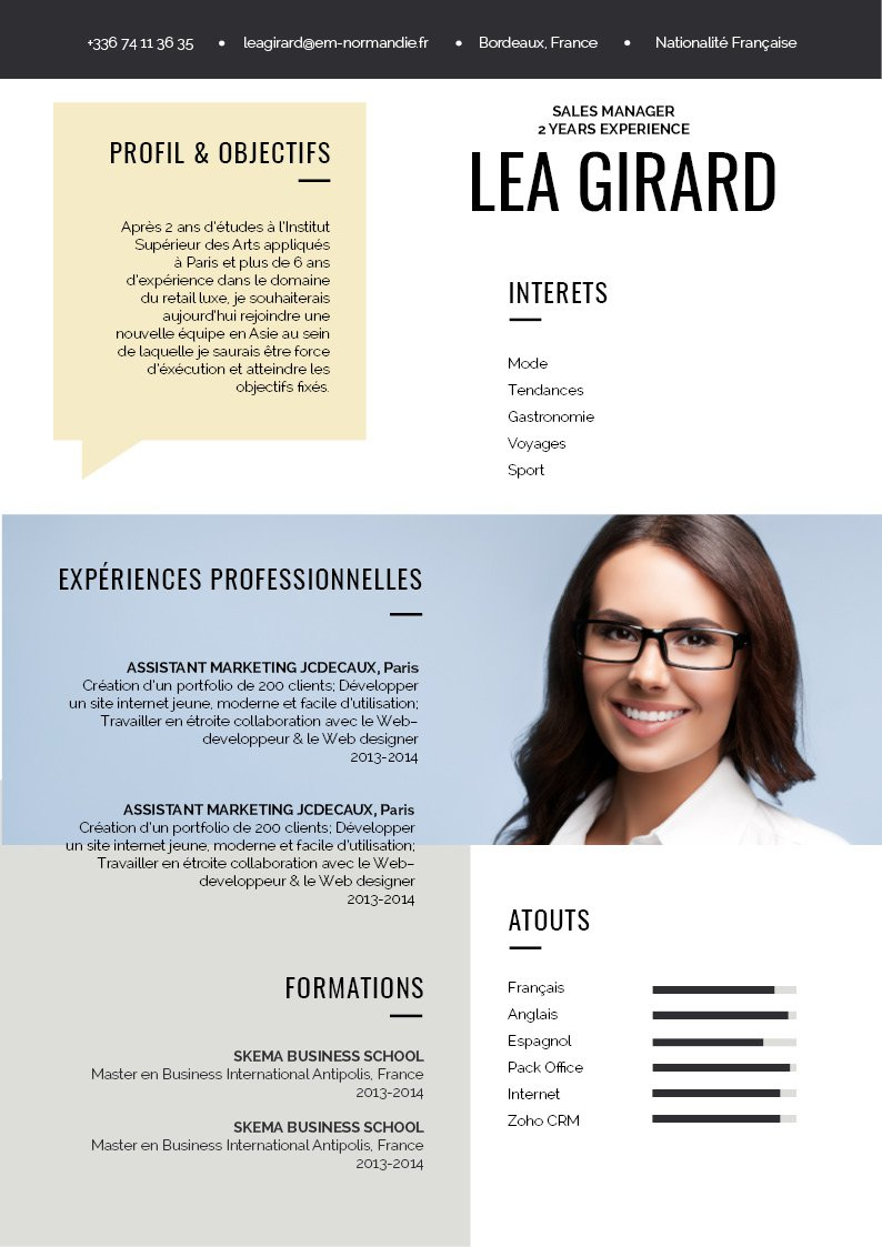 cv original et design