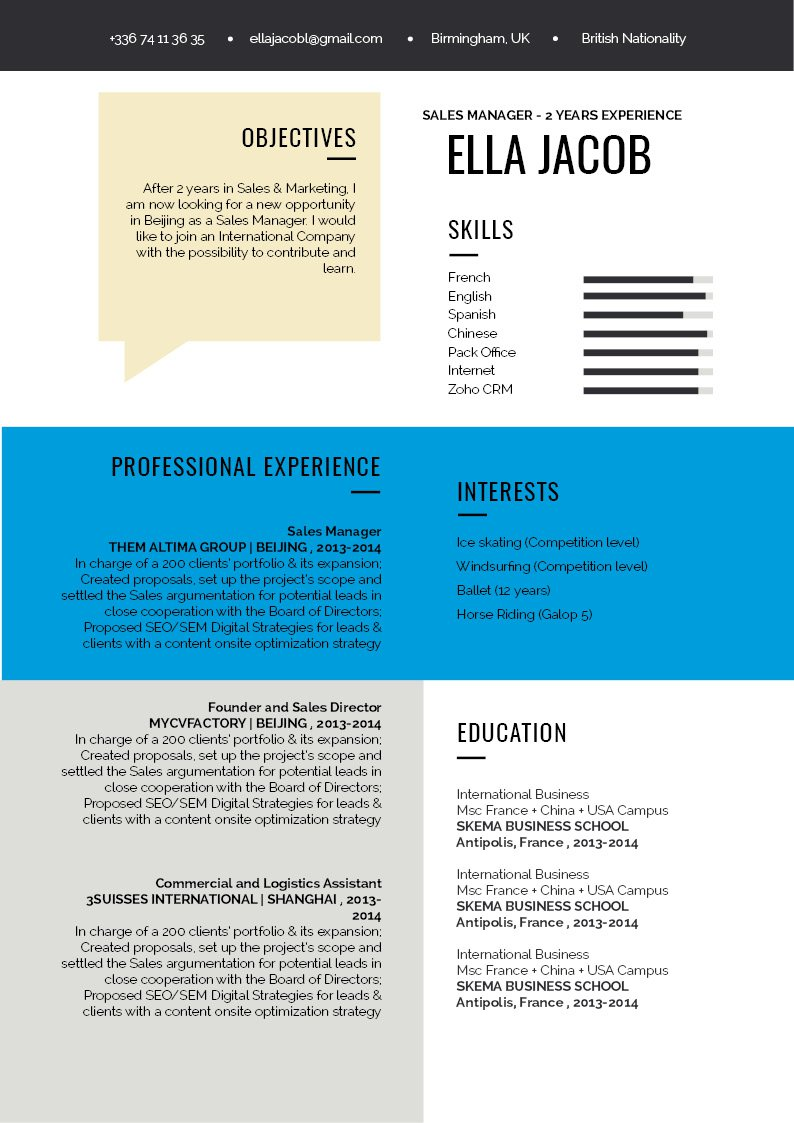 No need to worry! This functional CV template is sure to get you hired!
