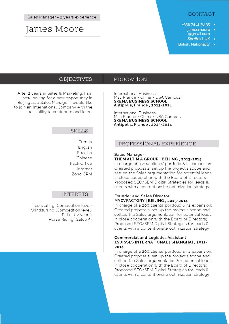 Format and layout crafter to perfection in this professional CV