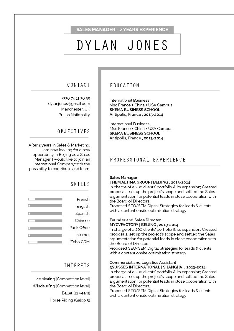 The best resume format out there -- Every section is clearly highlighted in this Professional CV Template!