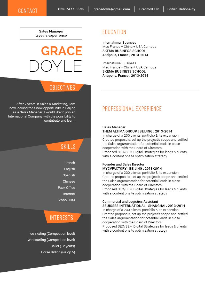 A modern CV template out that is formatted to perfection.