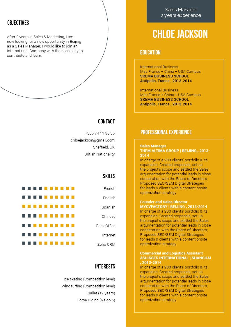 This Simple CV Template features and excellent format tha highlights all the key skills!