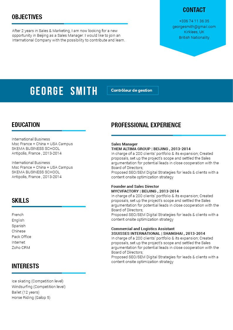 A functional cv format that is guaranteed to help you create an effective CV!