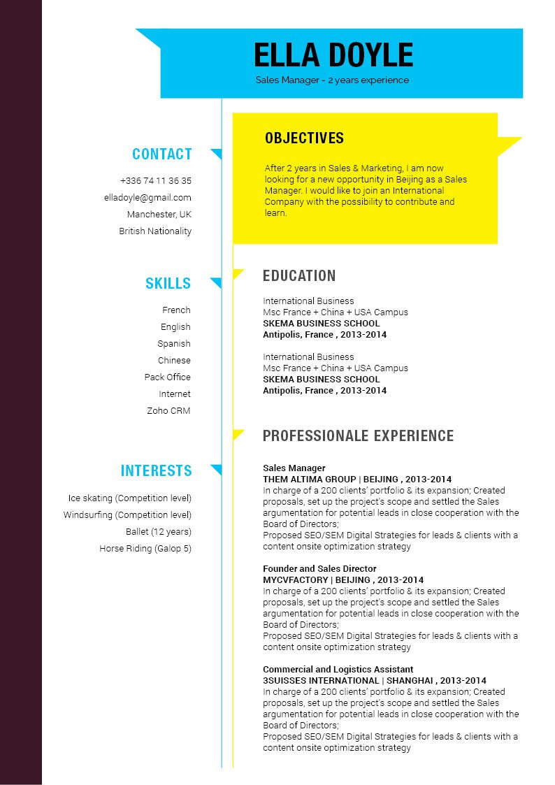 This functional CV template template has a great format and layout -- what else do you need?