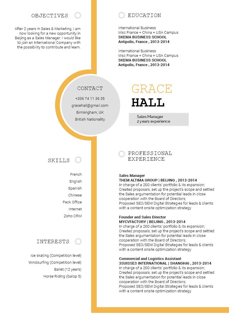 A clean format and layout will help you create that perfectly great CV!