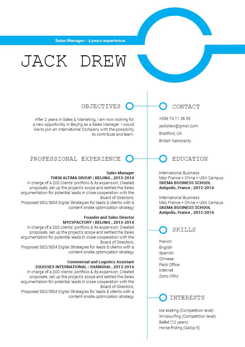 Simple and clean, a crips layout for a great simple CV Template