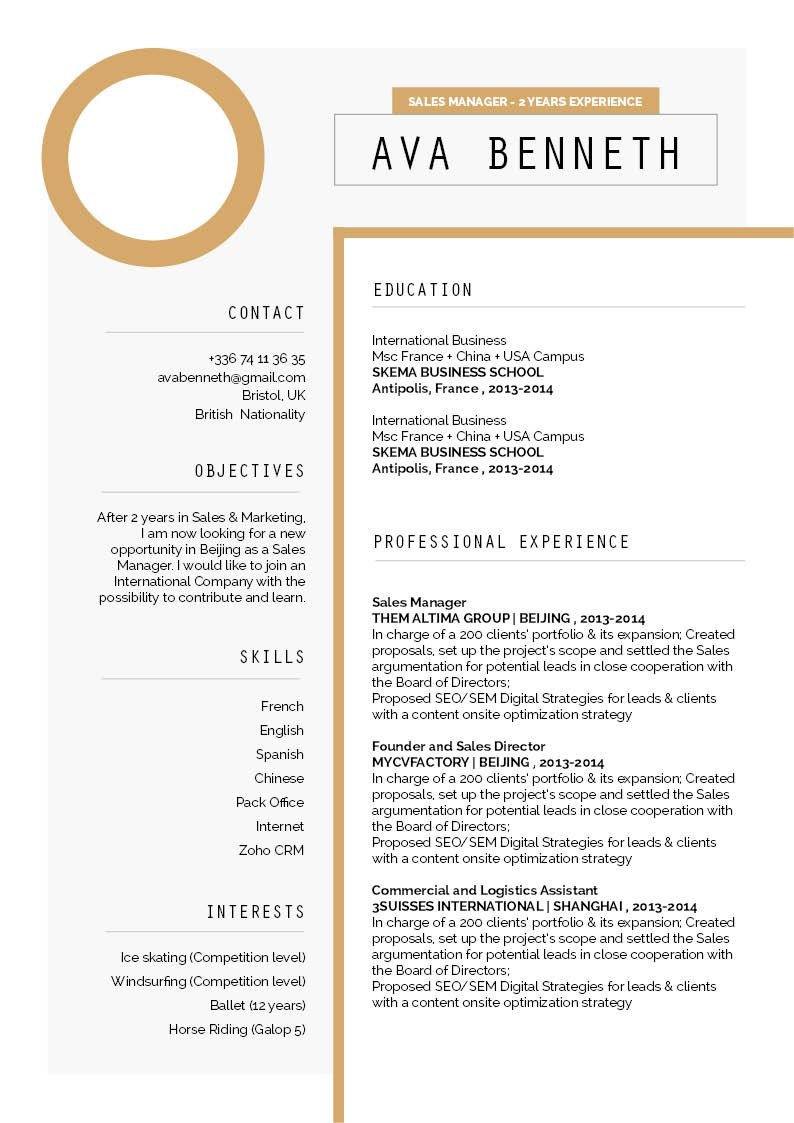 A modern format for a Simple resume Template -- the best choice you have!