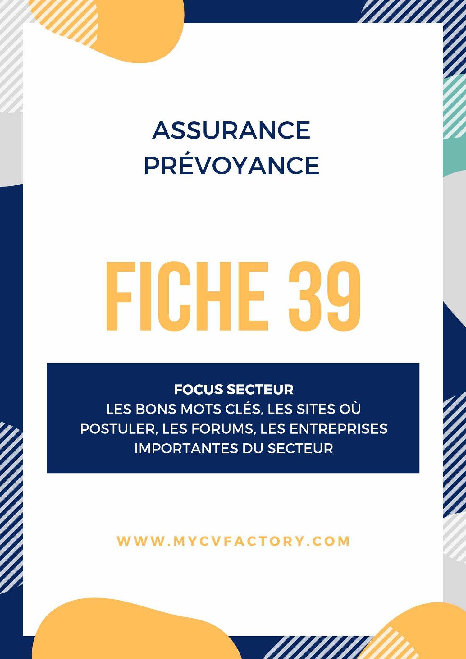 CV sociétés d'assurance
