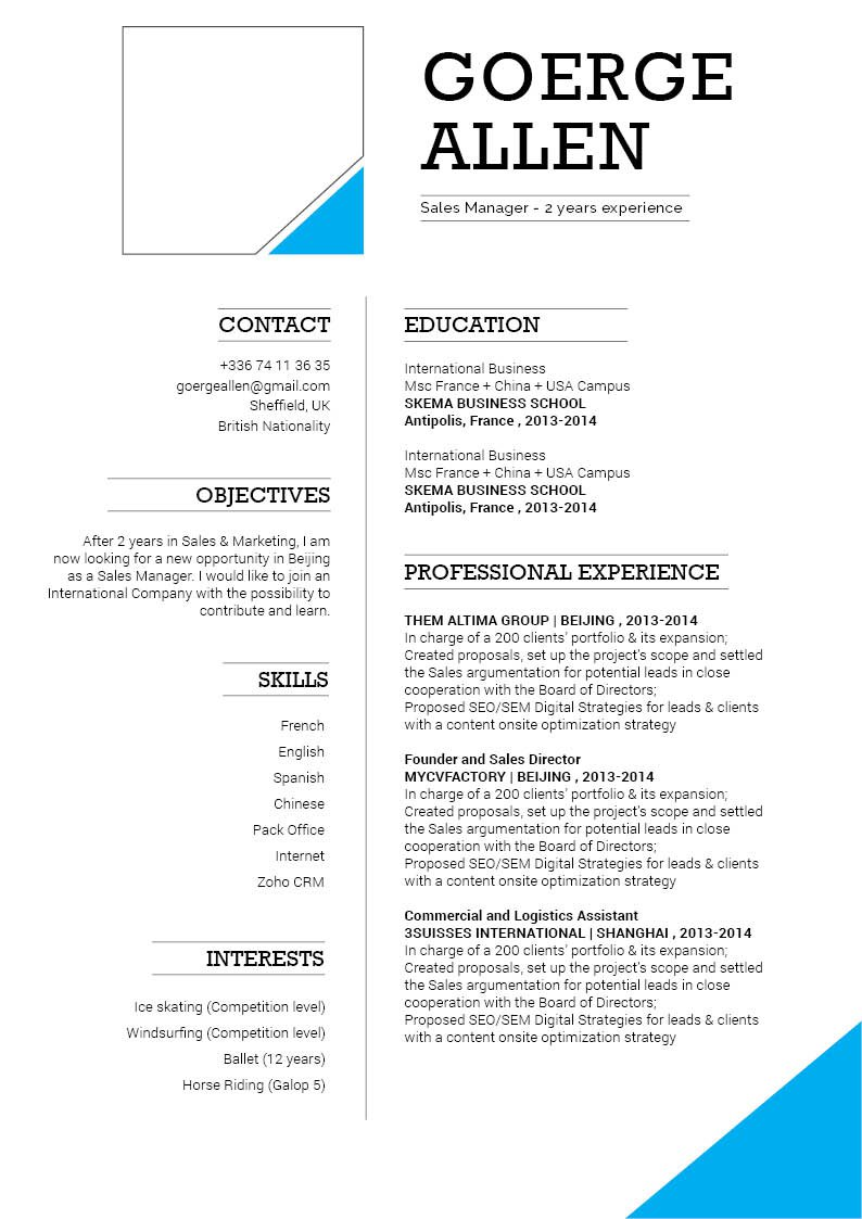 A functional professional CV design for all jobs!