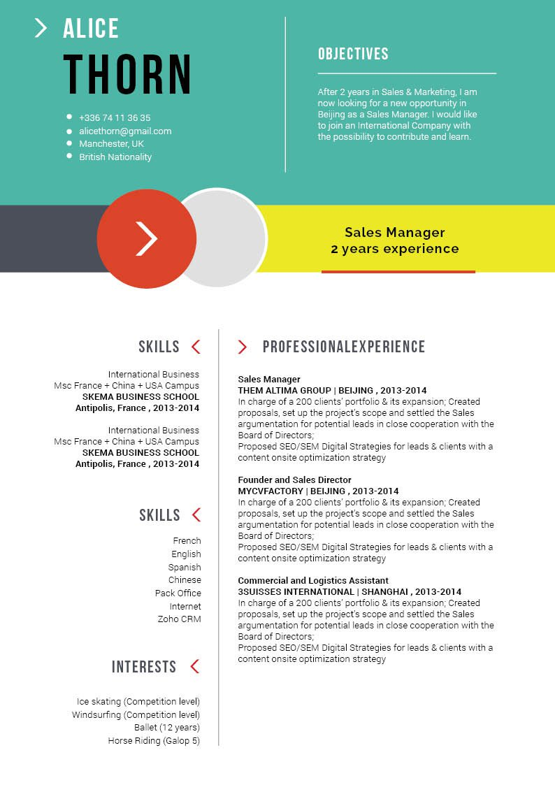 Clean and functional tempalte makes this resume format a perfect fit for all jobs!