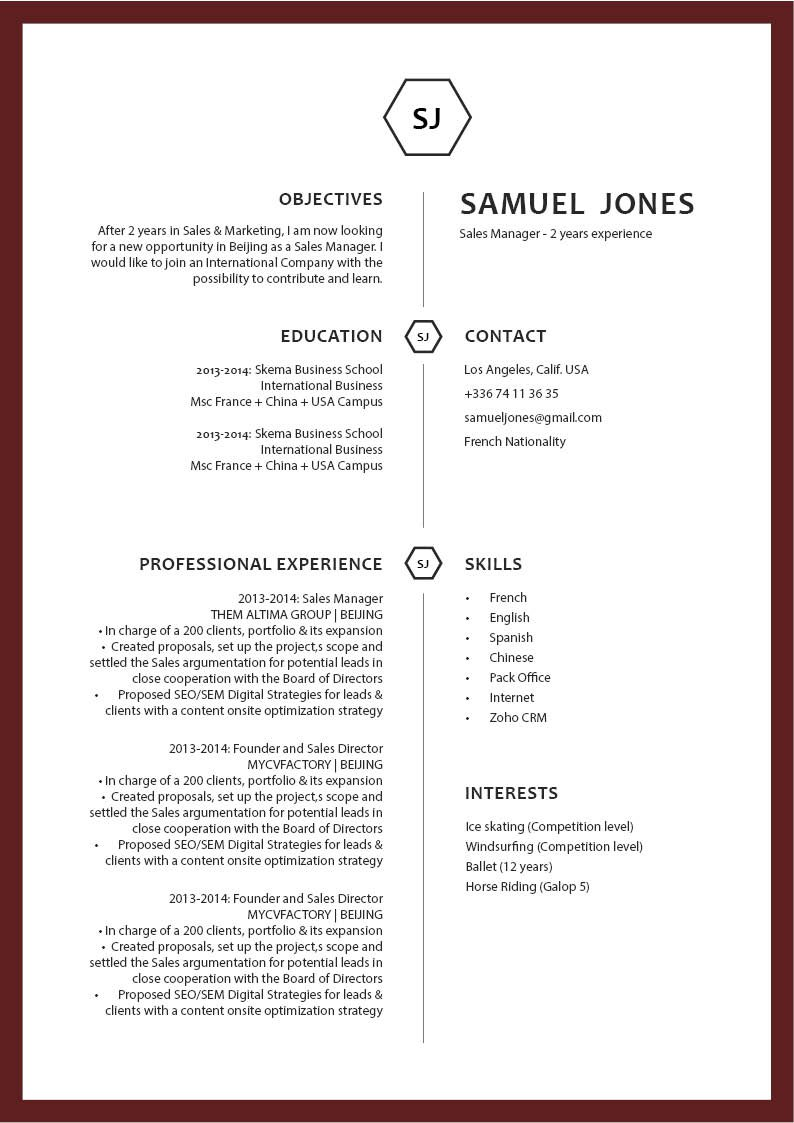 This modern resume template is expertly formatted to show off each section perfectly