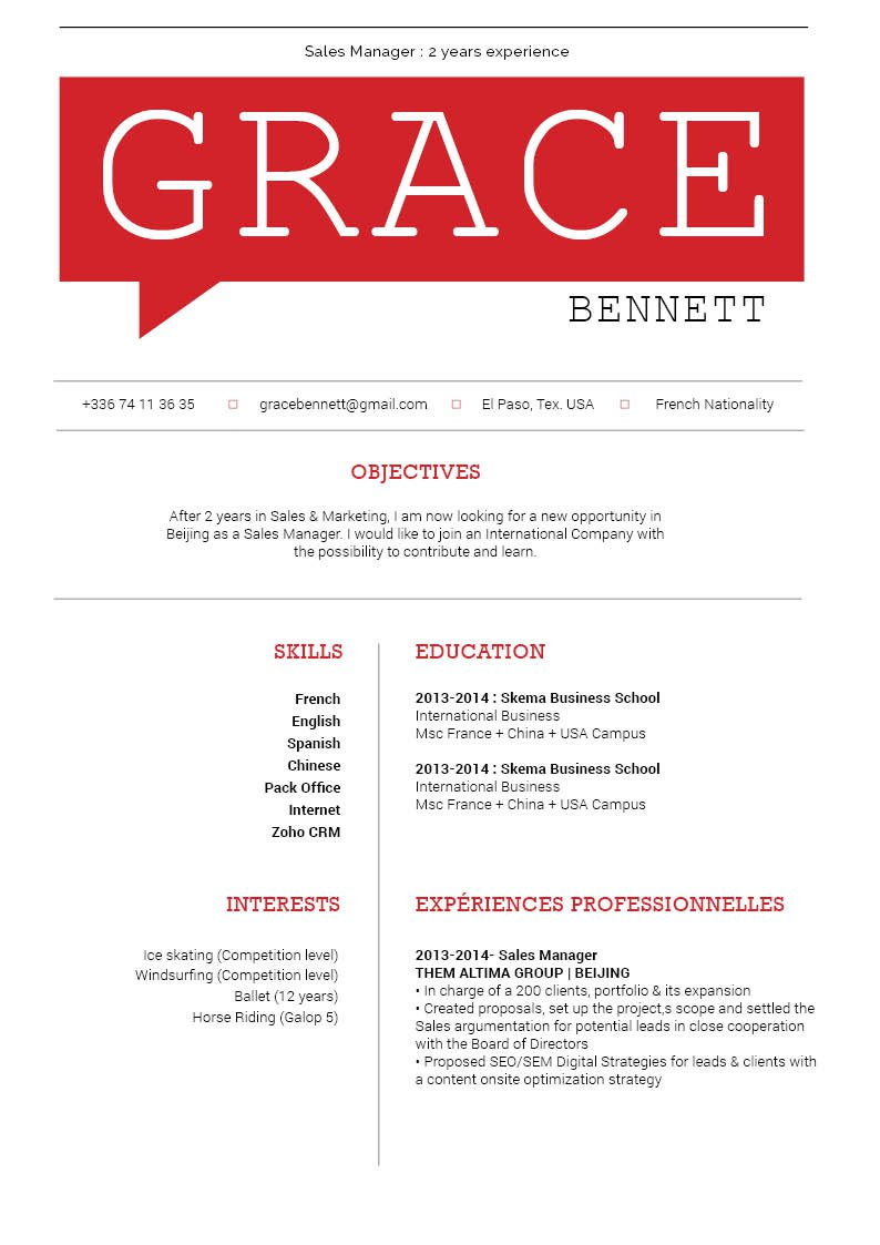 The format is specifically designed for the modern job seeker, what more could you want from a great resume?