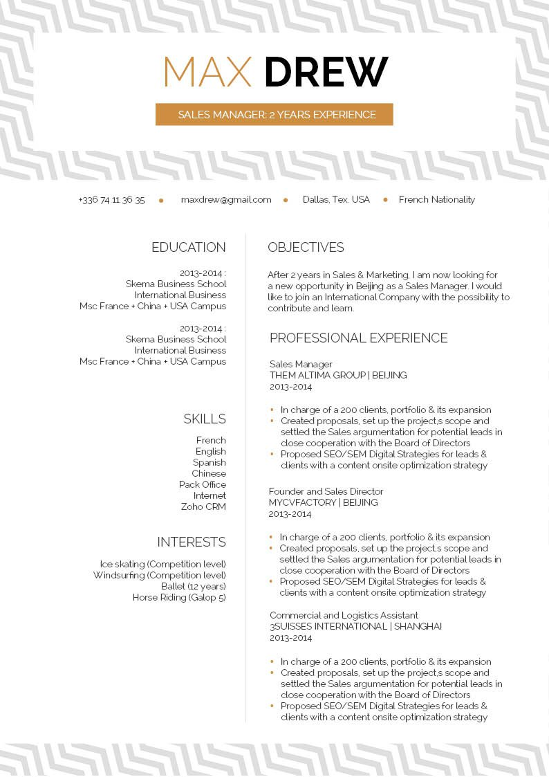 A functional resume template that has every section designed to a tee