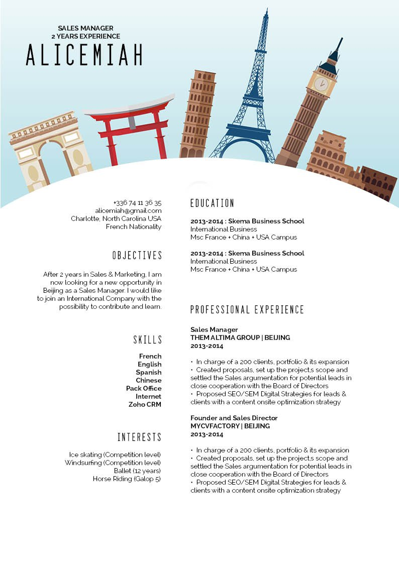 You are to make a mark in your applications with the use of this CV format!