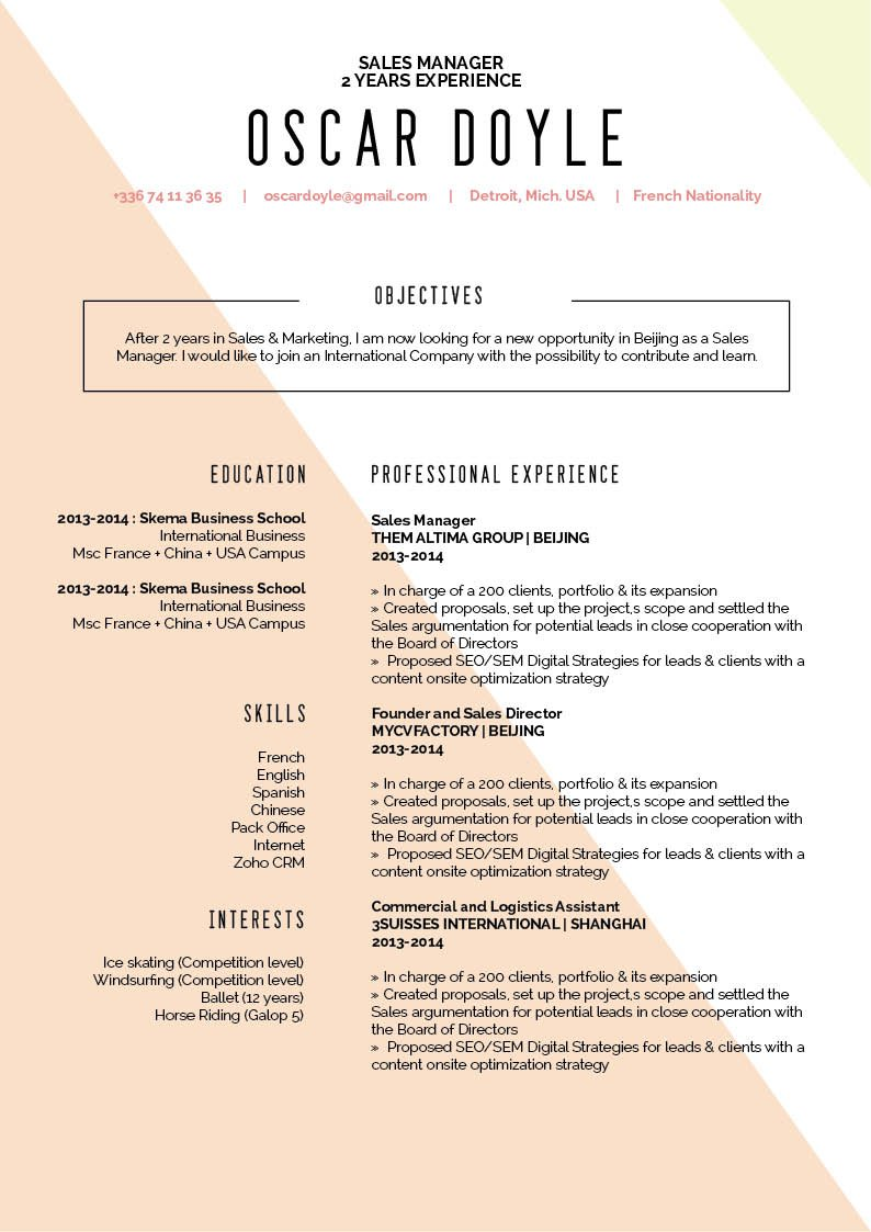 A great format is present in this professional CV -- One of the best resumes online and a sure winner in any recruiter's book!