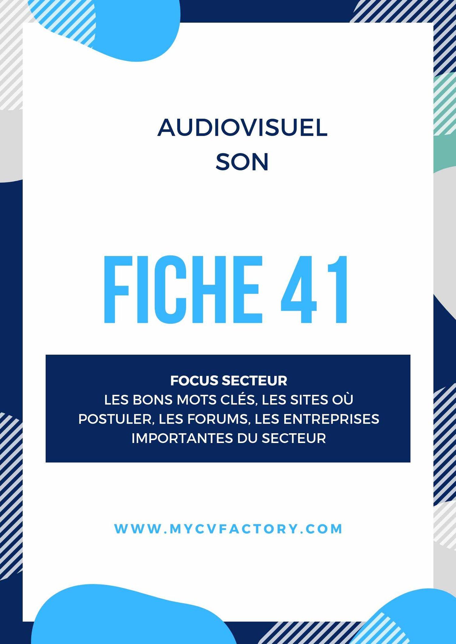 CV original audiovisuel