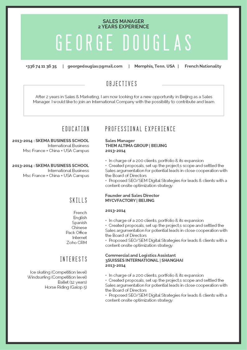 The format is clean and functioal making for a great  simple resume template!