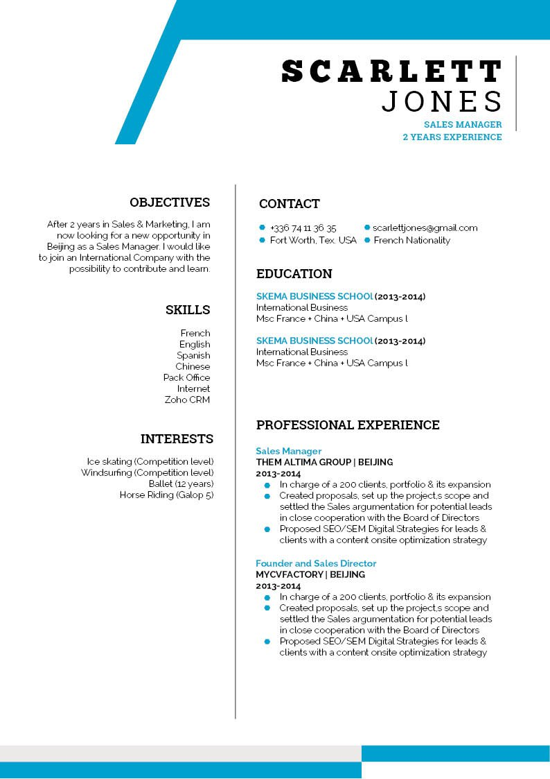 The lay out and format in this student resume template is sure to help you make a great CV!