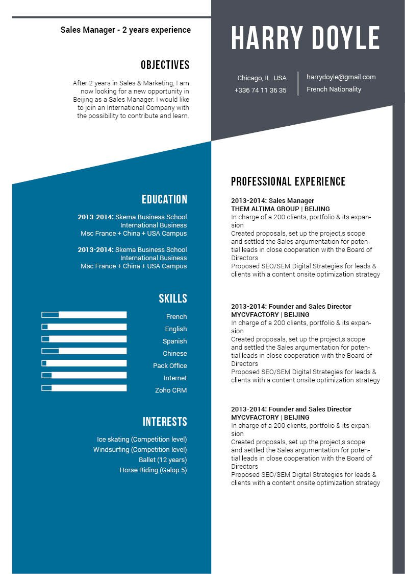 Well-laid out and simple are two things that perfectly describe this great resume!