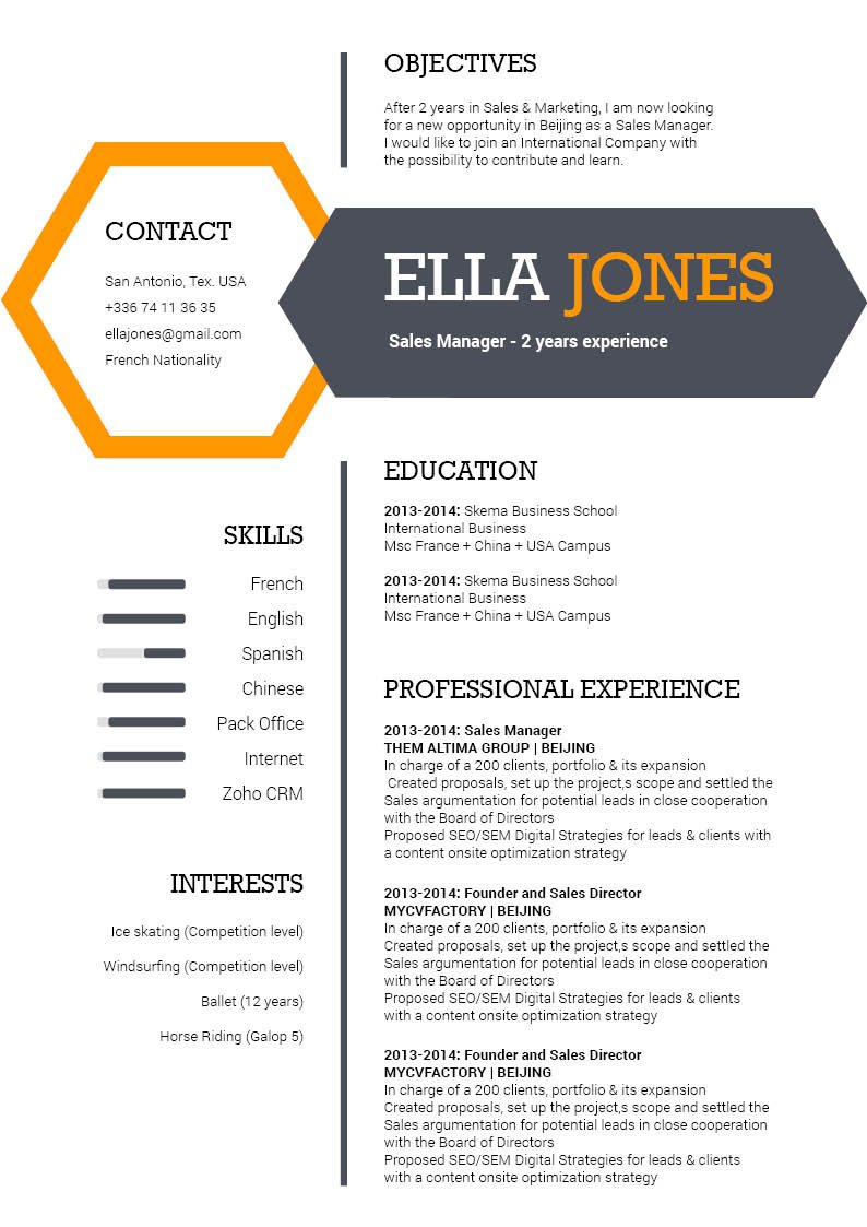 A Modern Resume template that will simply impress your recreuiter