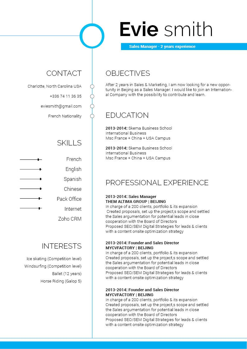 The best Professional Resume template for your job hunting! Clear and functional for all job types