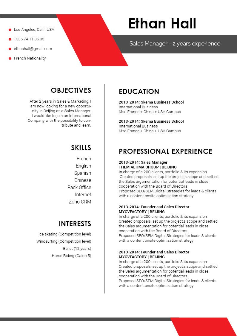 A Functional Resume template expertly crafted for the modern worker