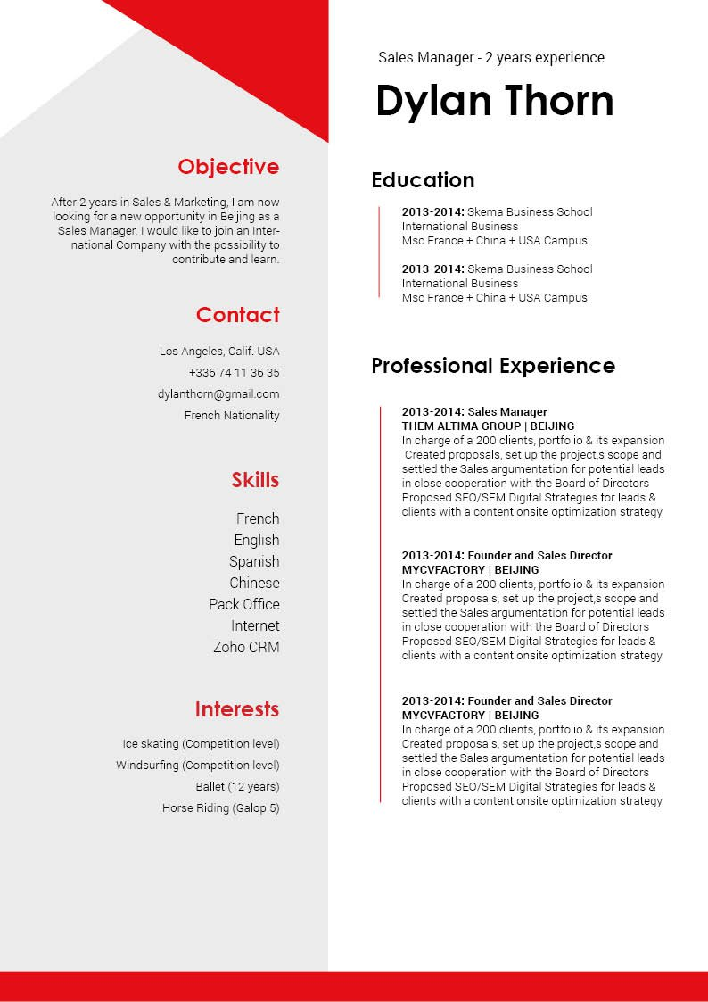 A great simple resume template for career seekers everywhere!