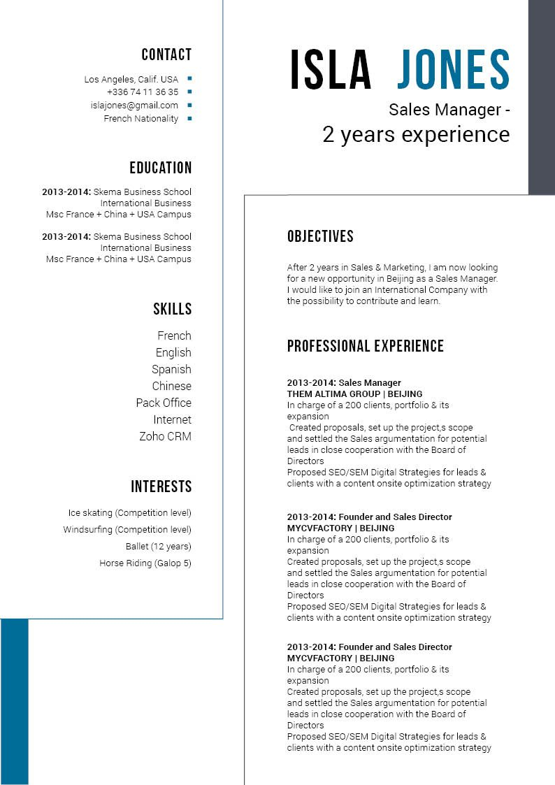 A resume template ideal for the modern job seeker thanks to its creative and functional format