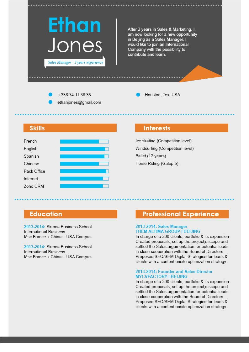 Look no further because this Modern  CV template is best choice!