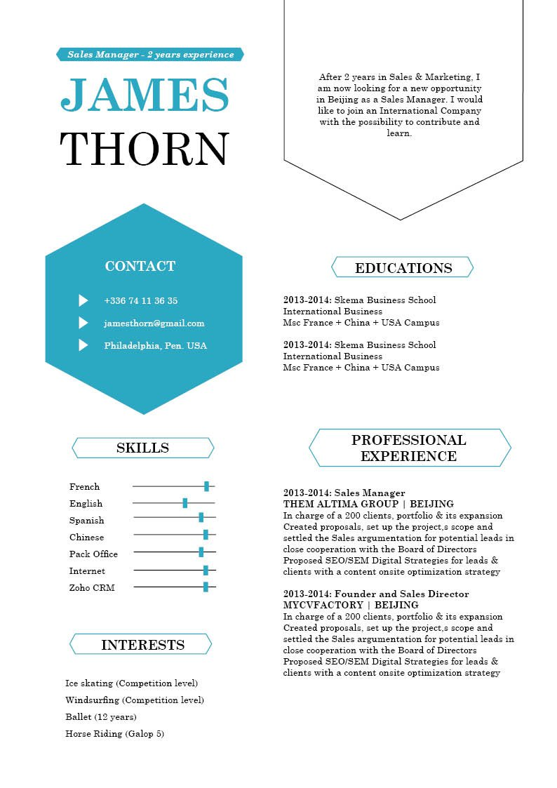 Get that dream job, Choose this Modern  CV template!