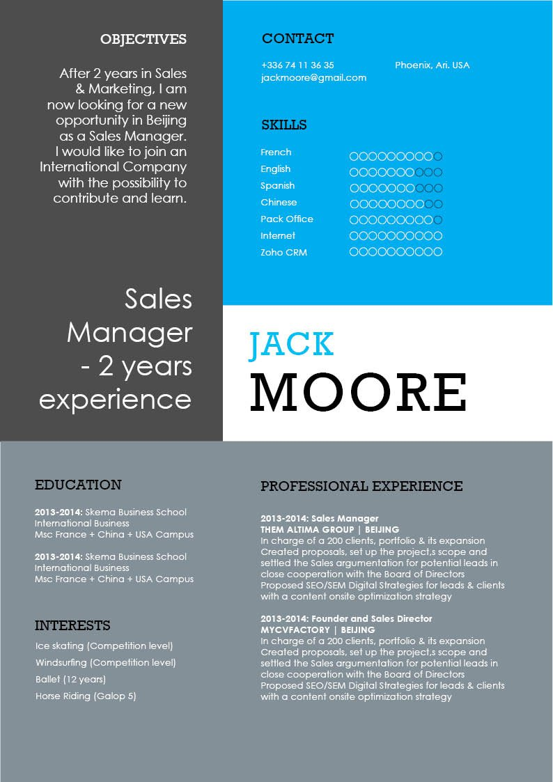 Your recruiter will be impressed with this good Modern  CV